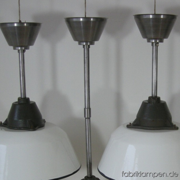 weisse emaille lampen 28 st fabriklampen. Black Bedroom Furniture Sets. Home Design Ideas