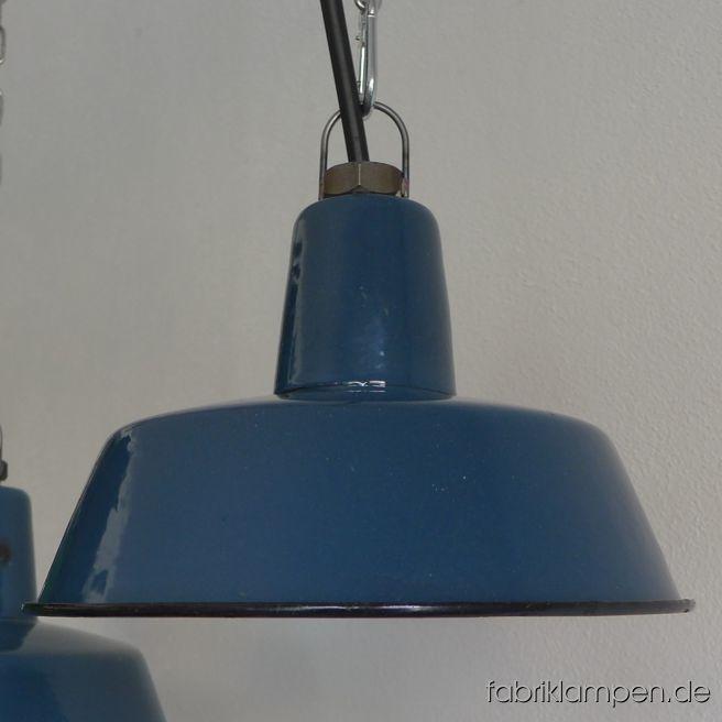 la121 alte blaue emaille industrielampen fabriklampen. Black Bedroom Furniture Sets. Home Design Ideas