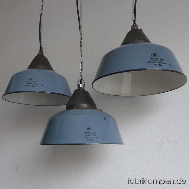 la138 alte graublaue emaille industrielampen fabriklampen. Black Bedroom Furniture Sets. Home Design Ideas