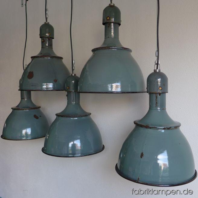 la80 alte gr ne emaillelampen fabriklampen. Black Bedroom Furniture Sets. Home Design Ideas