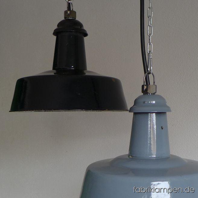 la96 old black and gray enamel lamps fabriklampen. Black Bedroom Furniture Sets. Home Design Ideas