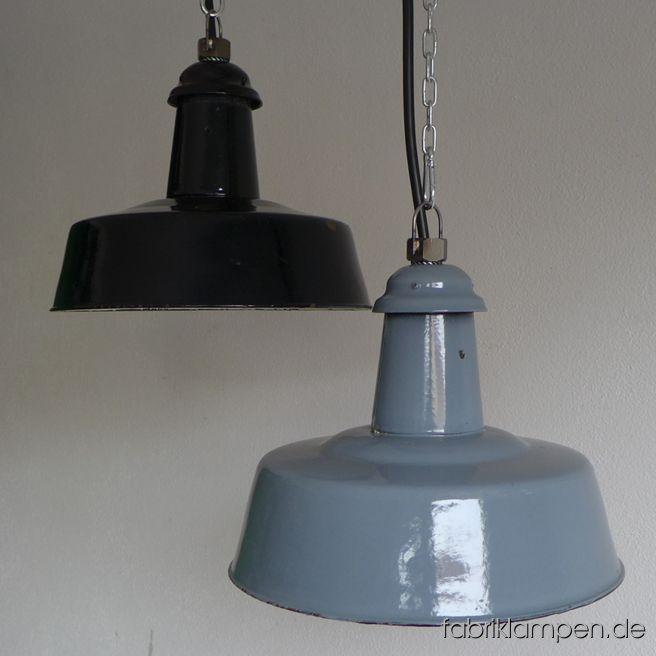 la96 alte schwarze und graue emaille lampen fabriklampen. Black Bedroom Furniture Sets. Home Design Ideas