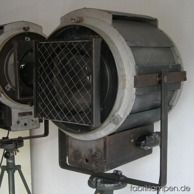 2 st ck riesige theaterscheinwerfer fabriklampen for Lampen replikate