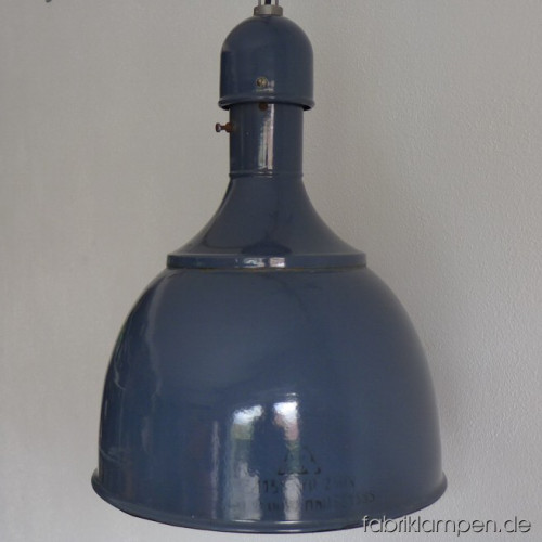 la60 blaue industrielampe fabriklampen. Black Bedroom Furniture Sets. Home Design Ideas