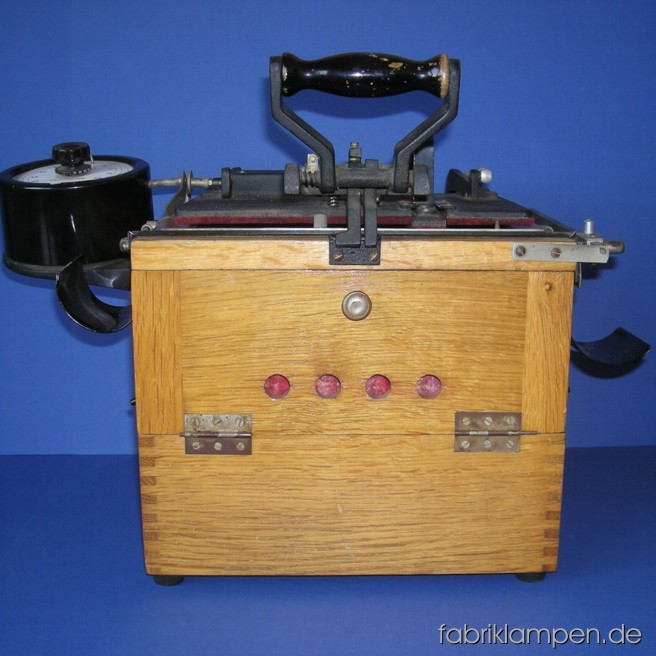 Old copying machine (Hauck). Not tested, the timer does not work, light damage on the rim of the clock.