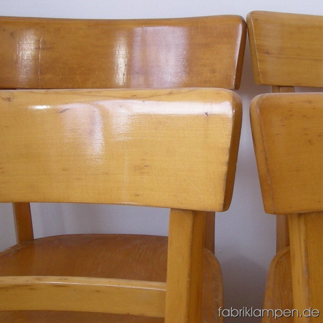 "Set of 6 p. ""Frankfurter"" kitchen chairs in very nice original condition."