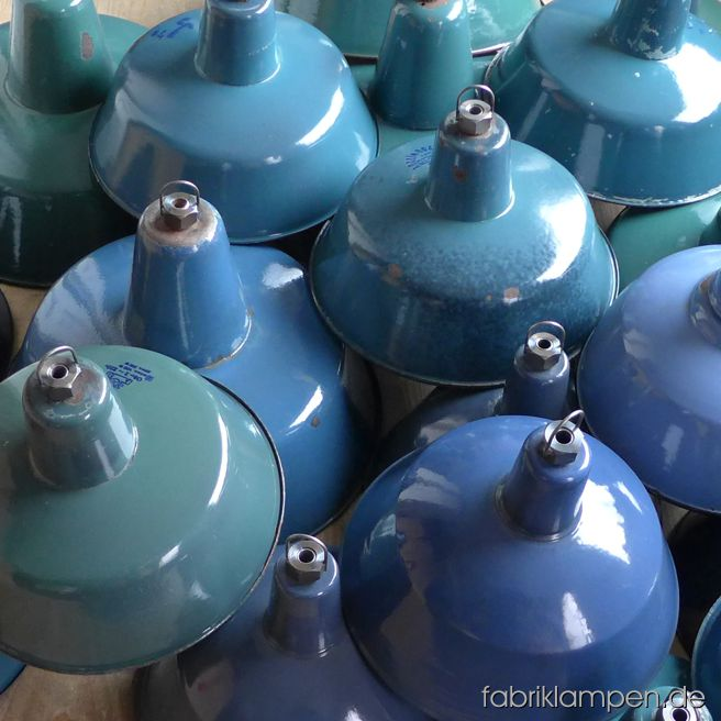 Nice colorful enamel lamps for the chocolate manufacture and shop XOKOLATL in Basel, Switzerland. Delicious!