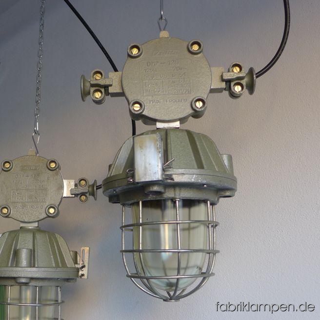 La107 Grune Bunkerlampe Mit Verteilerdose Fabriklampen