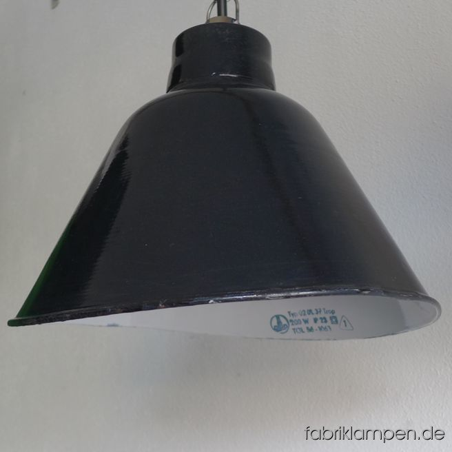 La122 Old Black Industrial Lamp Lbl Fabriklampen