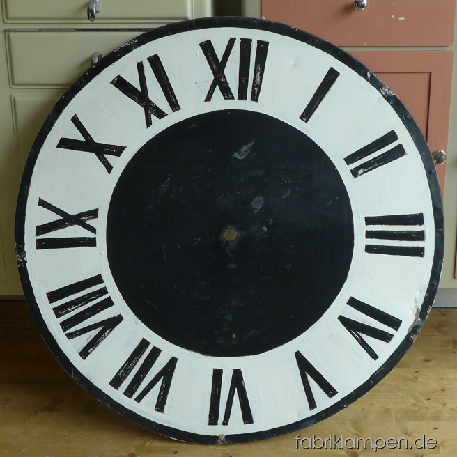 Old church clock face in nice original condition. Diameter ca. 80 cm (31,5 inches).