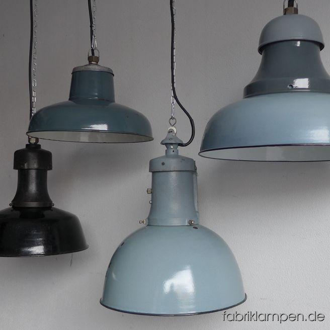 Schöne alte, teilweise antike Fabriklampen. Sie kommen in den nächsten Tagen auf die Seite.