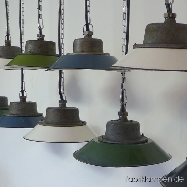 We start the spring 2019 with these colourful lot of old factory lamps. We have 20 pieces of them in stock. Further details and new items can be found at our lamps-site.